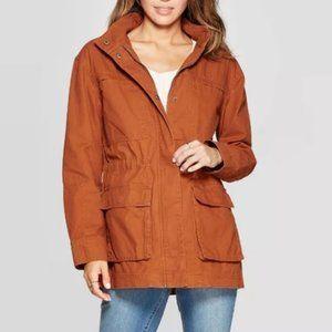 Mossimo Burnt Orange Cargo Anorak Jacket Small
